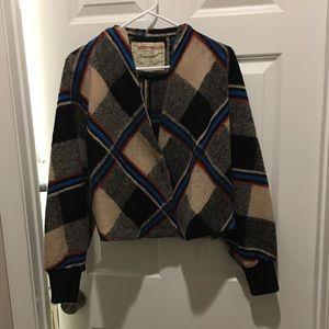 Anthropologie plaid jacket
